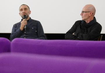 2017_Pierre Jodlowski et Joël Suhubiette pour la sortie du vinyle L'Aire du Dire