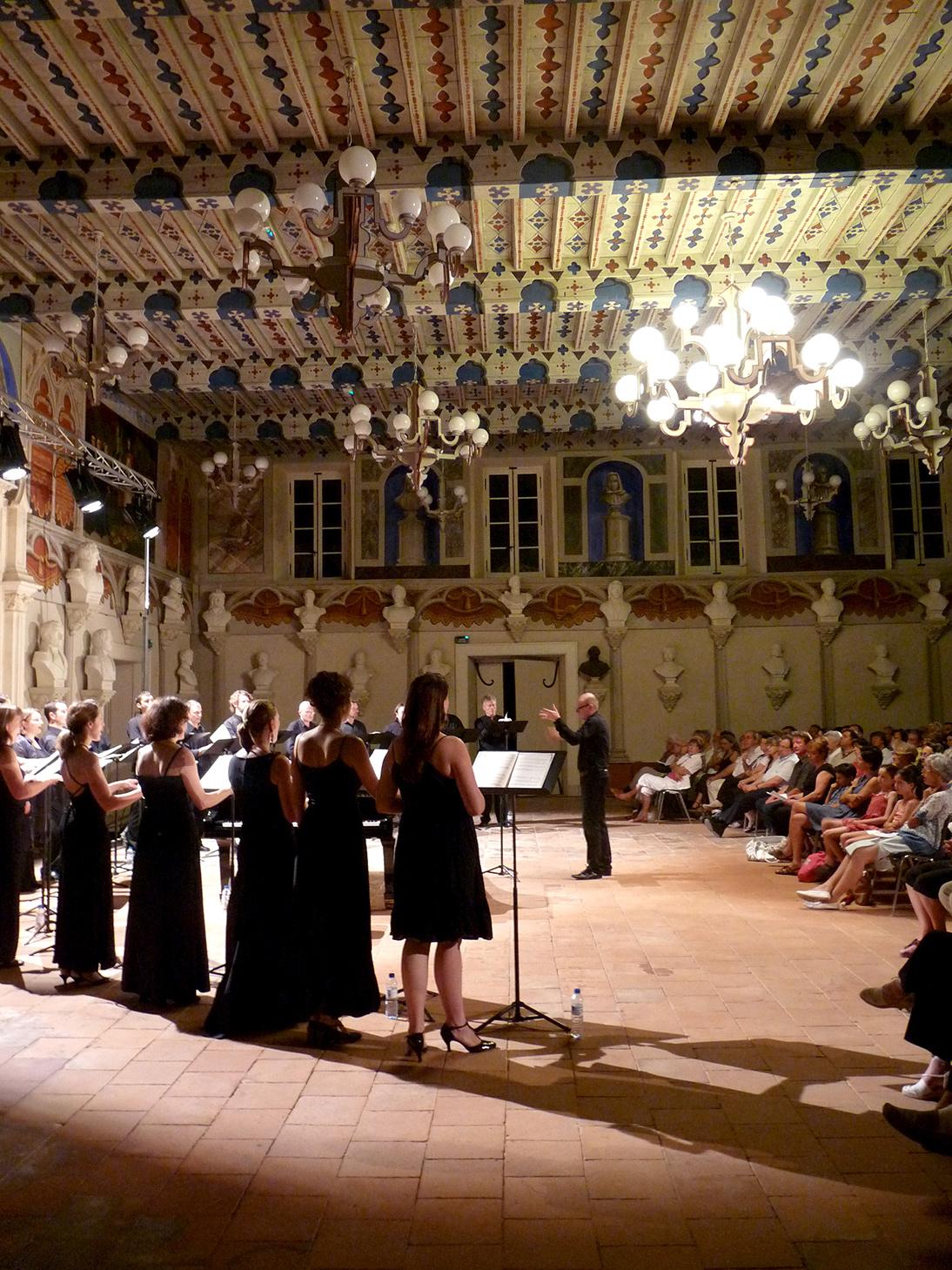 Concert des éléments dans la salle des Illustres © DR