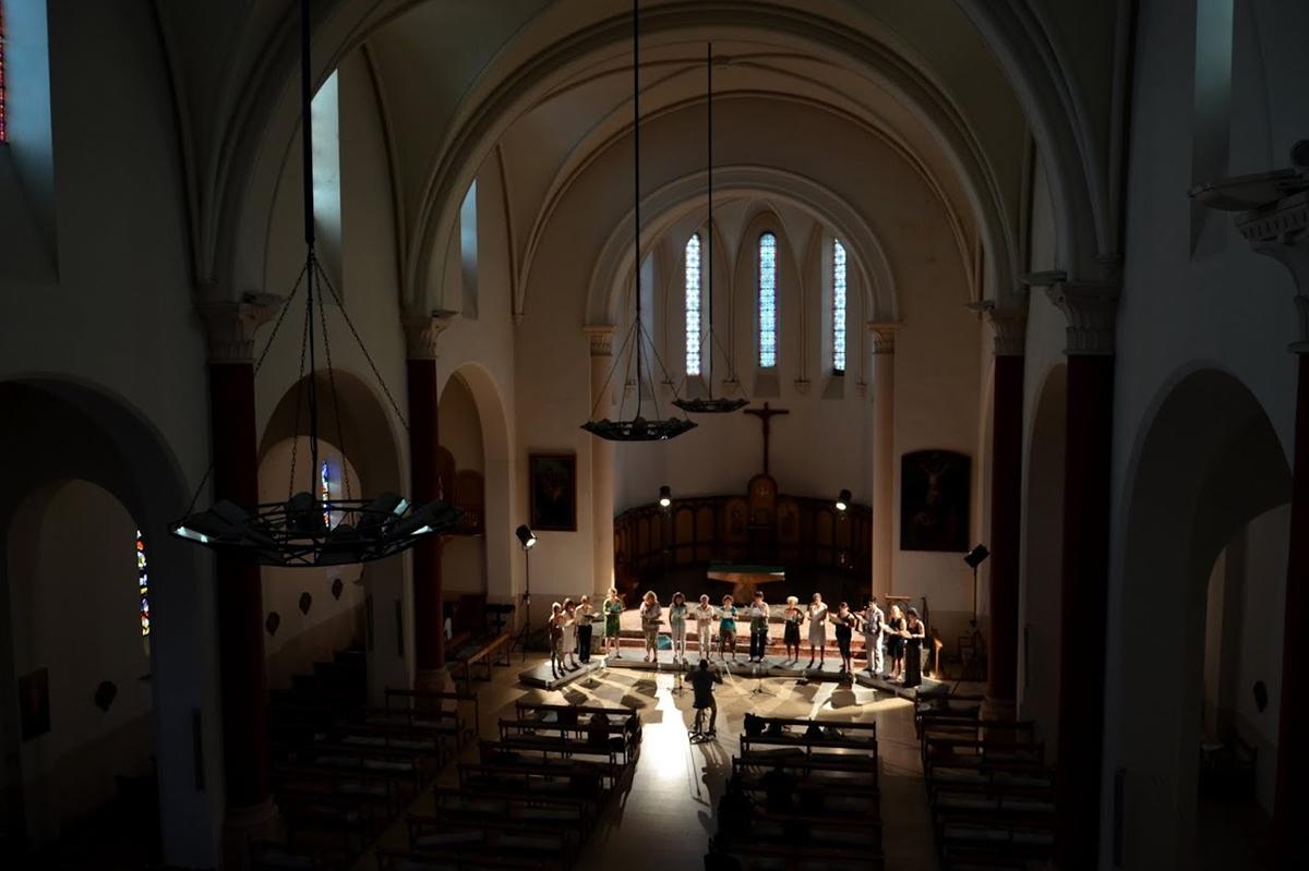 Répétition Eglise de Sorèze, Académie d'été 2013